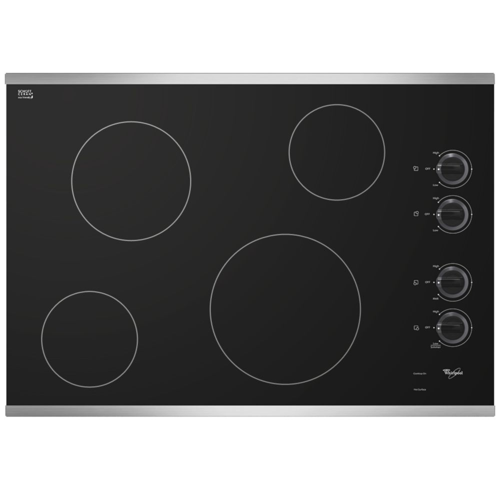 31-inch Electric Ceramic Glass Cooktop in Stainless Steel