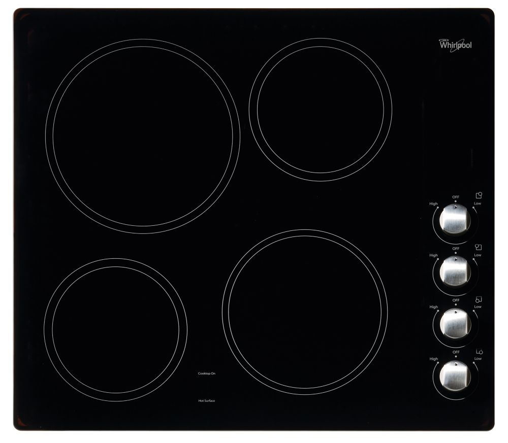 24-inch Electric Ceramic Glass Cooktop in Black