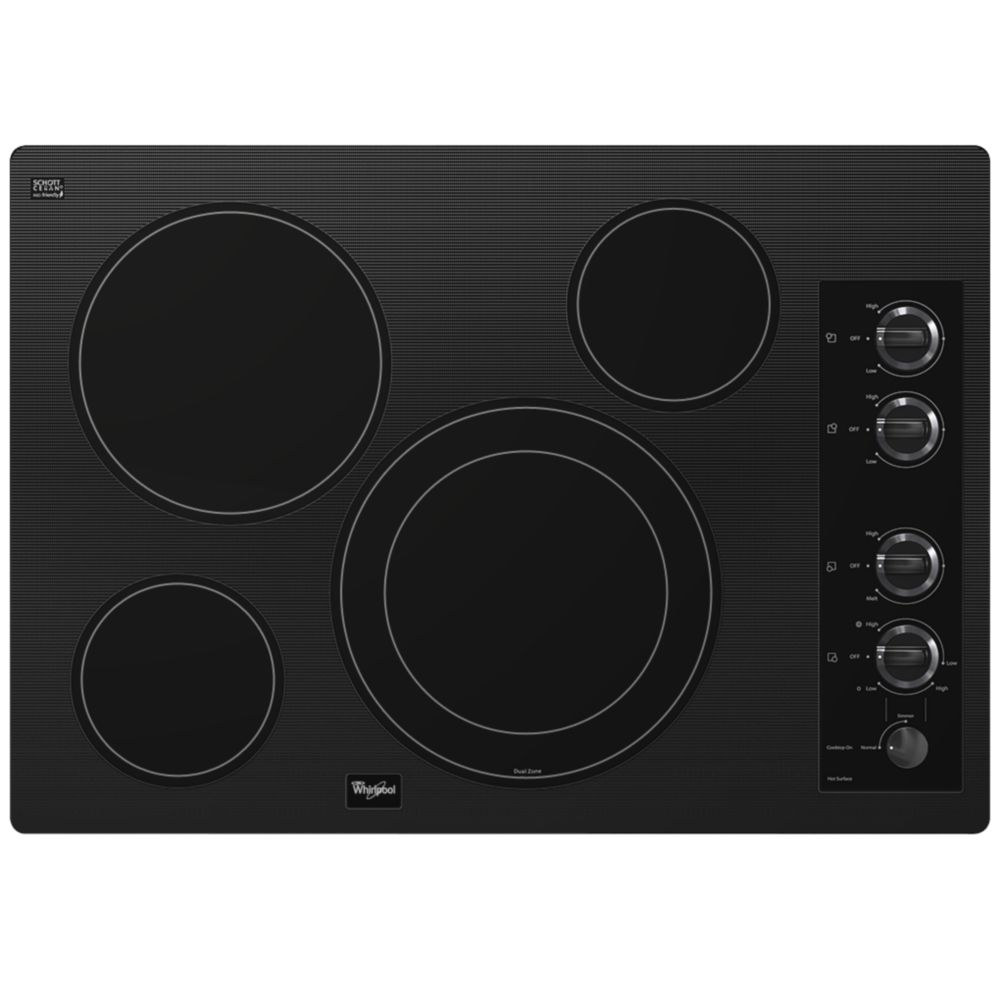 31-inch Gold<sup>®</sup> Electric Ceramic Glass Cooktop with Dual Radiant Element in Black