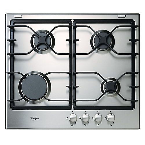24-inch Gas Cooktop in Stainless Steel with 4 Burners
