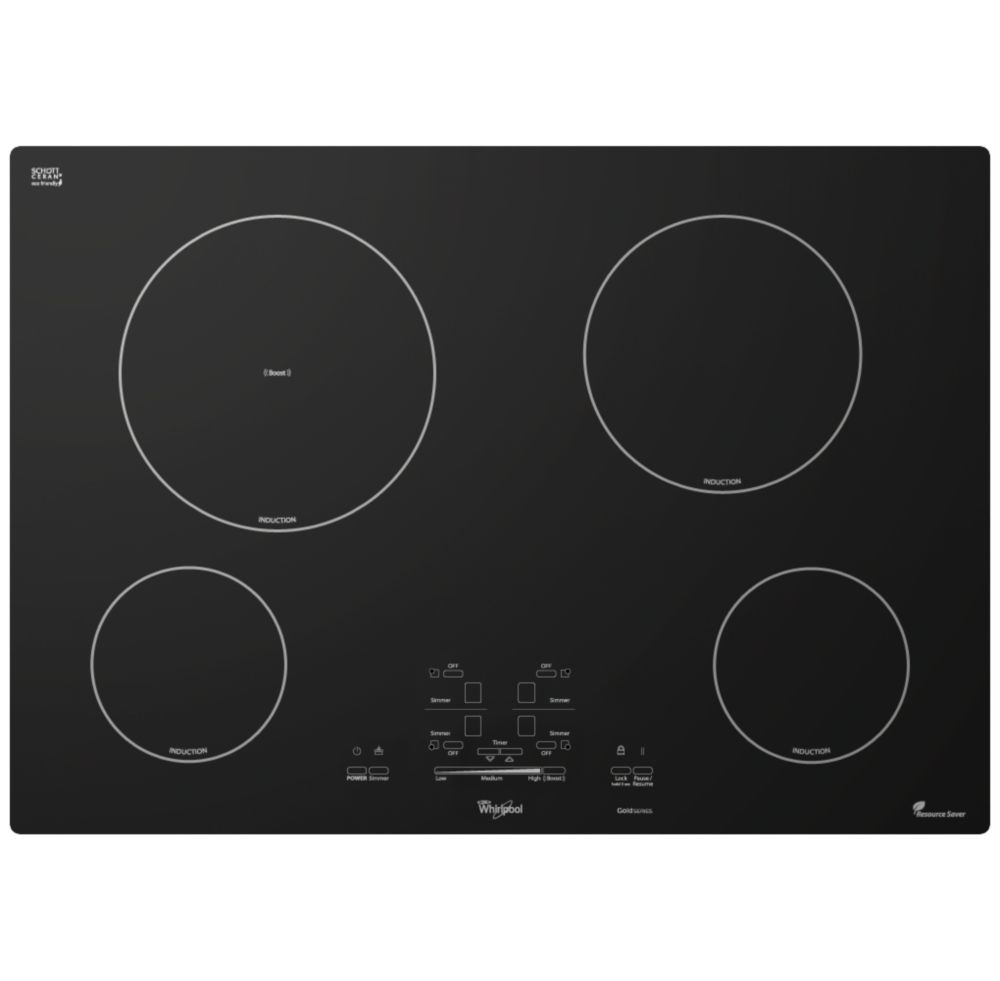 Whirlpool table de cuisson lectrique induction gold 30 - Table de cuisson electrique ...