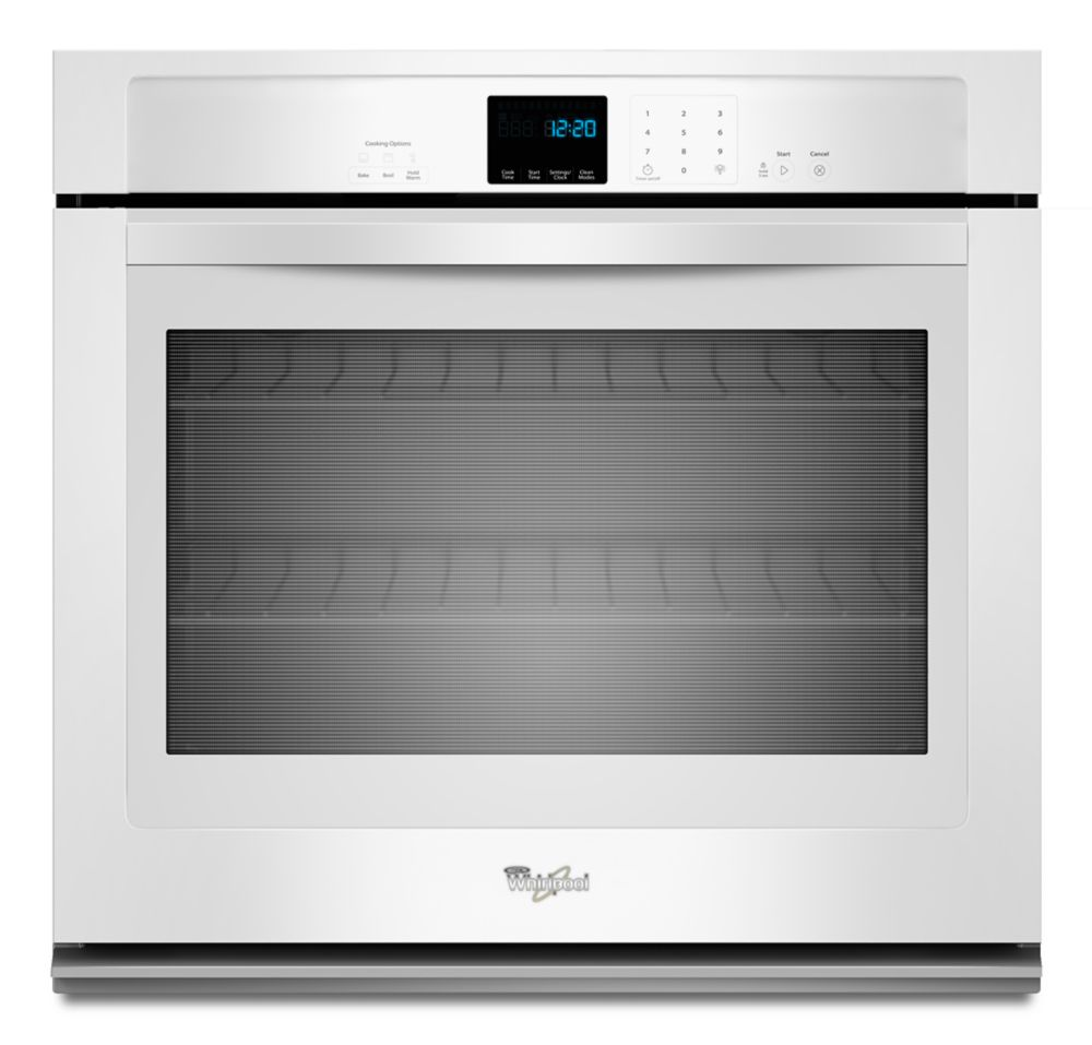 4.3 cu. ft. Single Wall Oven with SteamClean Option in White