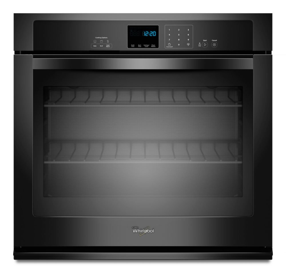 4.3 cu. ft. Single Wall Oven with SteamClean Option in Black