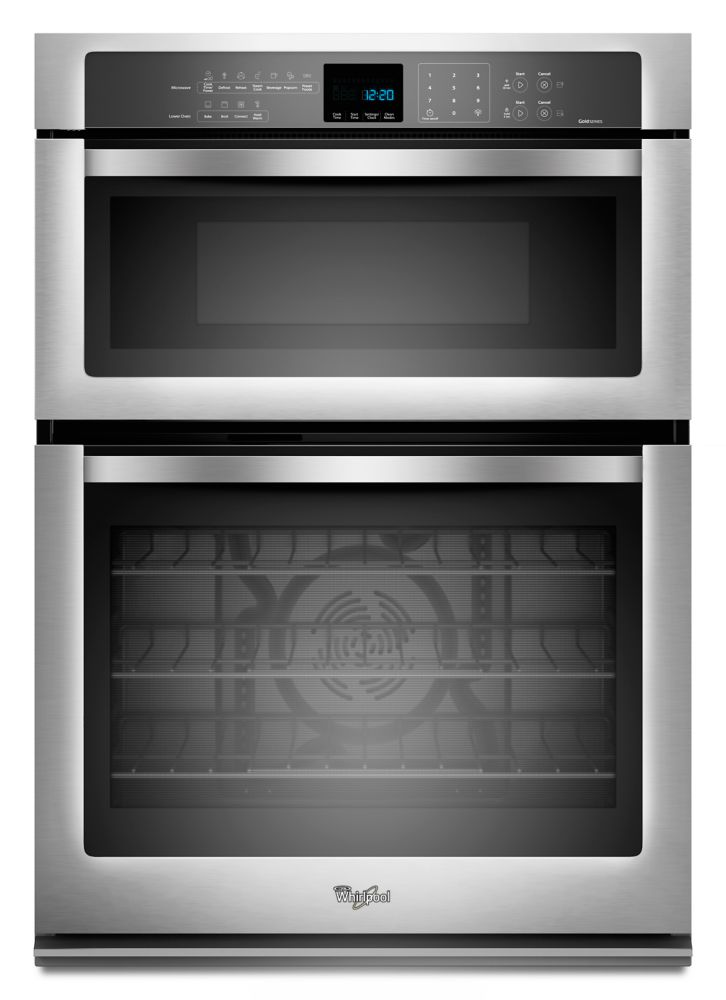 Gold<sup>®</sup> 5.0 cu. ft. Microwave and Wall Oven with True Convection Cooking in Stainless St...