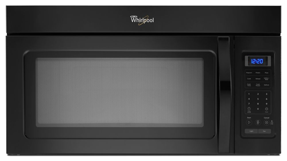 1.7 cu. ft. Microwave Hood Combination with Two-Speed Fan in Black
