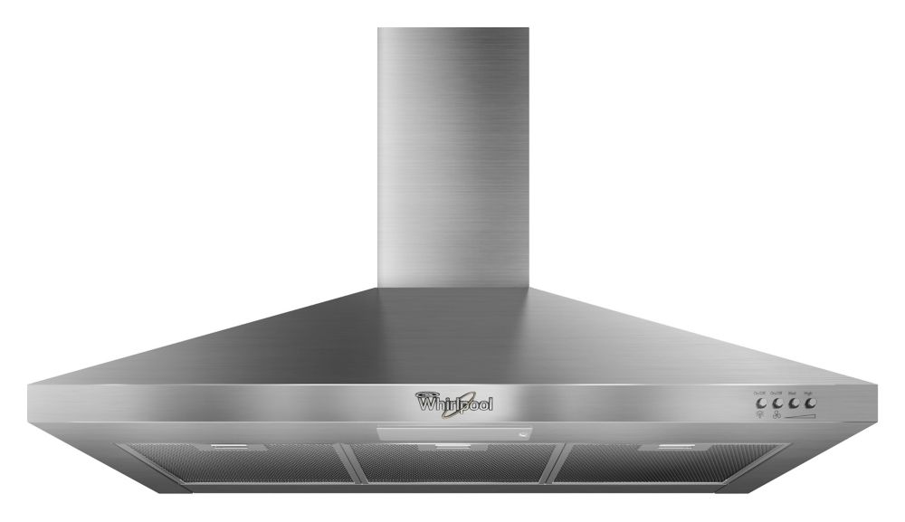 36-inch Gold Vented Canopy Wall-Mount Range Hood in Stainless Steel