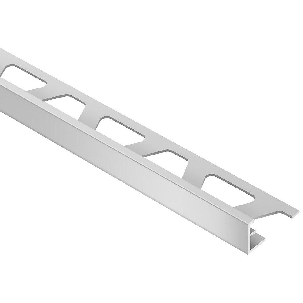Schiene Satin Anodized Aluminum 3/8 in. x 8 ft. 2 in. Metal L-Angle Tile Edging Trim