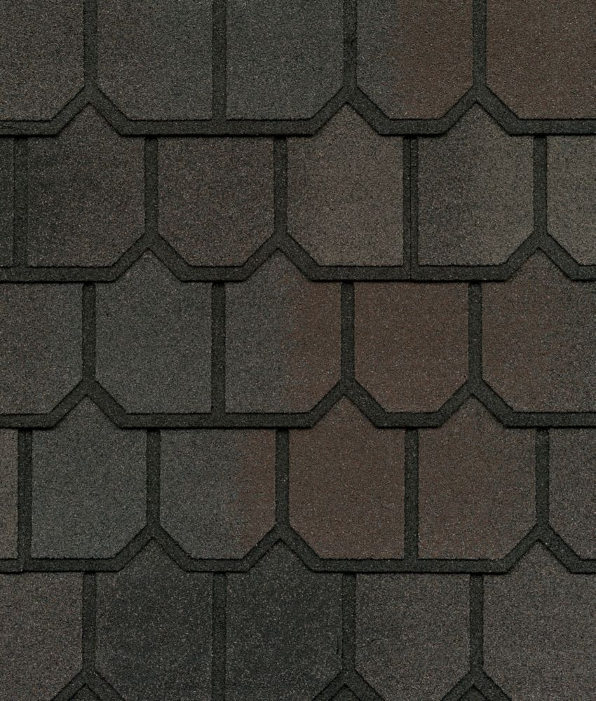 Country Mansion II Midnight Blush Lifetime Designer Shingles