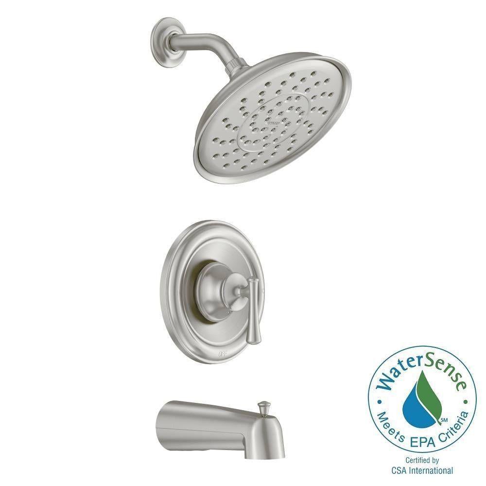 Ashville Single-Handle Bath/Shower Faucet in Spot Resist Brushed Nickel