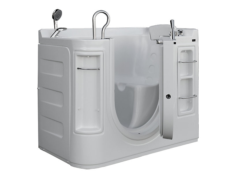 Luxury Walk-In Non Whirlpool Bathtub with Thermostatic Controls