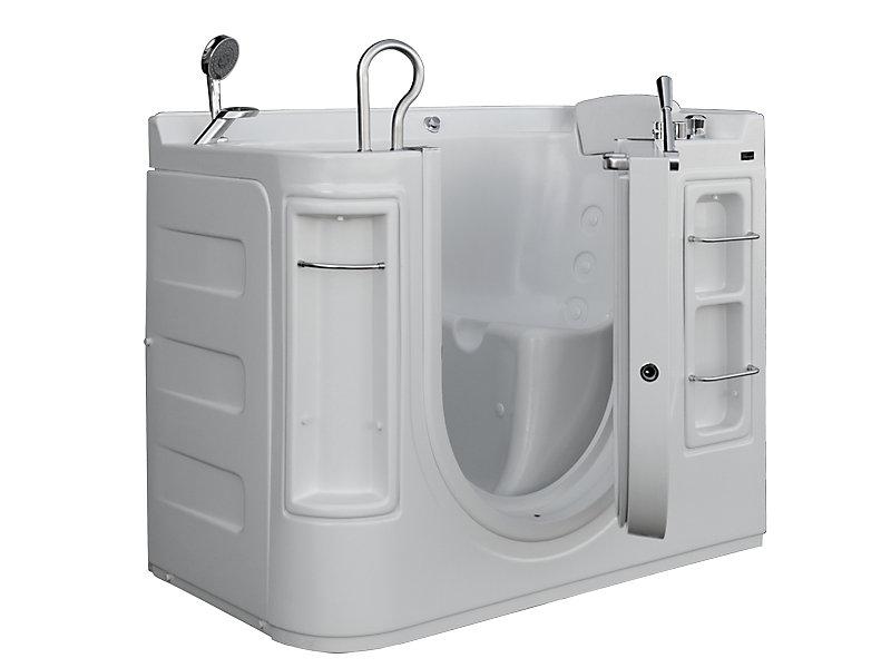 Luxury Walk-In Whirlpool Bathtub with Thermostatic Controls