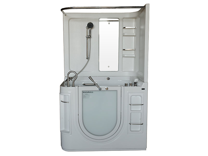 Walk-In Whirlpool Bathtub with Thermostatic Controls