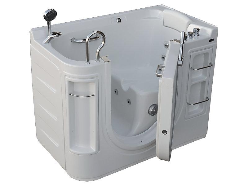Lavish Walk-In Whirlpool Bathtub with Thermostatic Controls