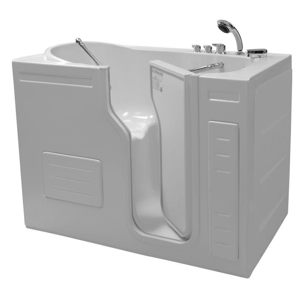 Lavish Walk In Non Whirlpool Bathtub With Thermostatic Controls