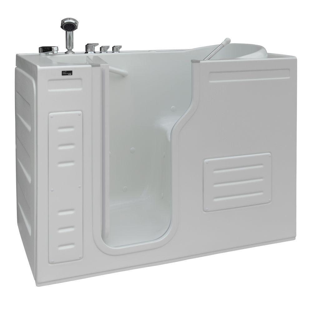 Walk-In Whirlpool Bathtub with Thermostatic Controls