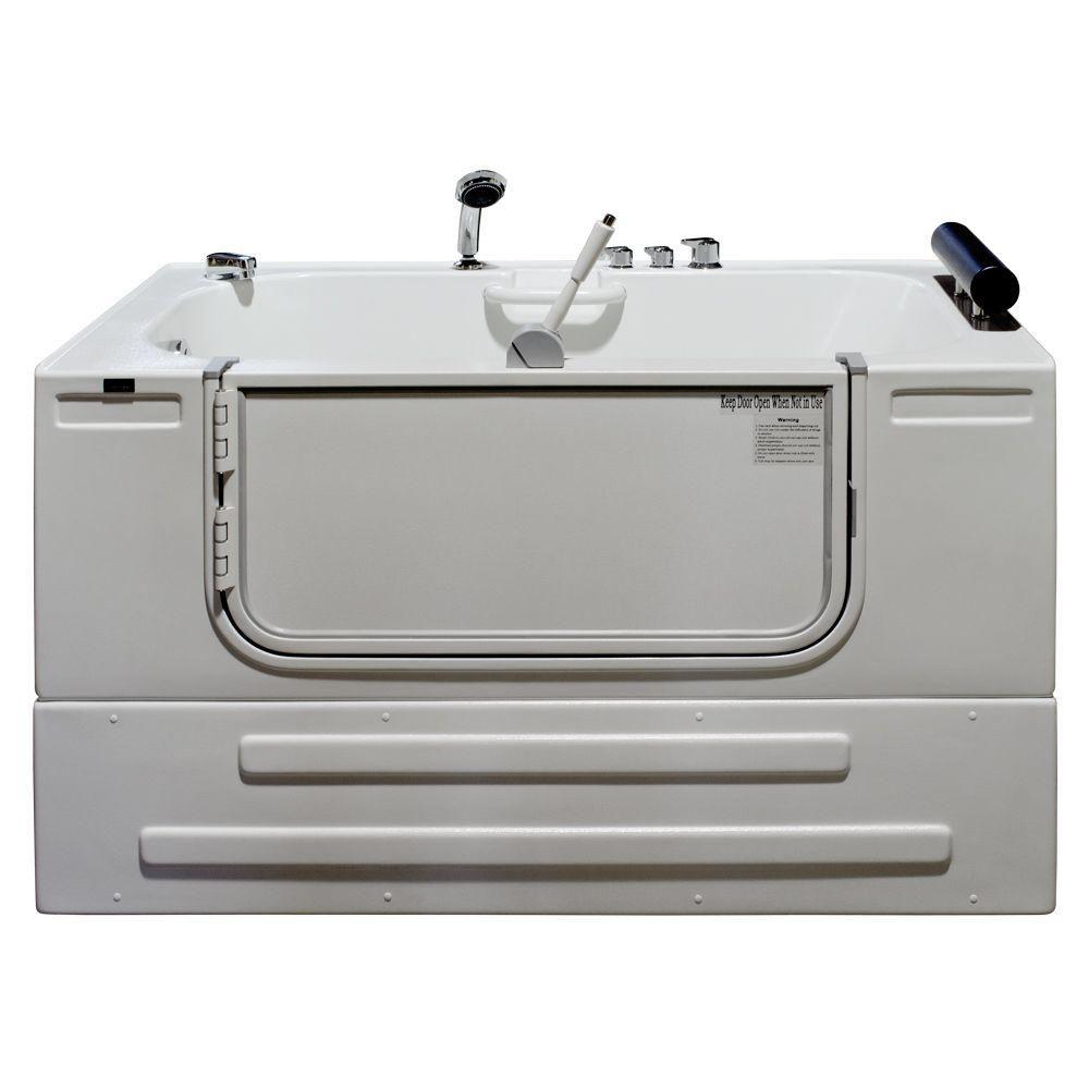 Homeward Bath Universally Designed Walk-In Whirlpool Bathtub with Thermostatic Controls