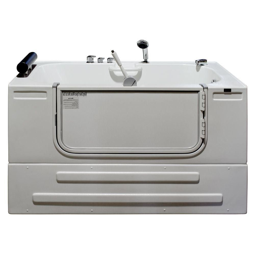 Universally Designed Walk-In Whirlpool Bathtub with Thermostatic Controls