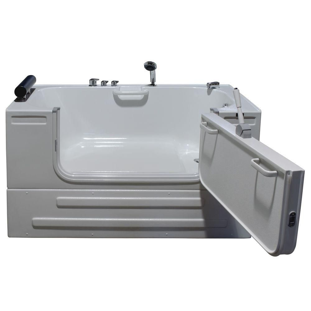 Universally Designed Walk-In Non Whirlpool Bathtub with Thermostatic Controls
