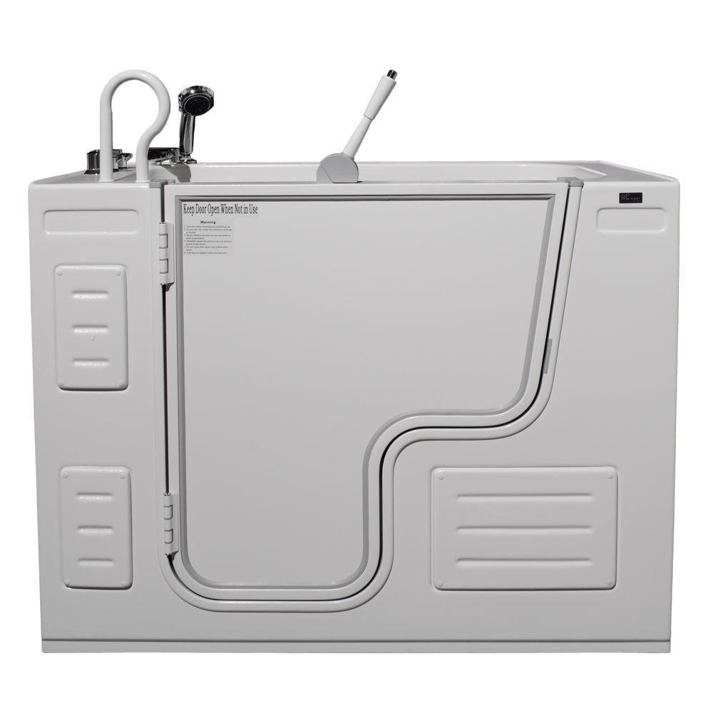 Homeward Bath Lavish Non Whirlpool Transfer Bathtub with Thermostatic Controls