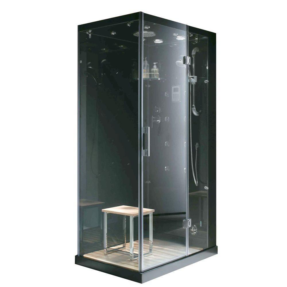 Modern, Stylish Steam & Shower Enclosure With Multi Body Massage Water Jets, Radio & Aromatherapy