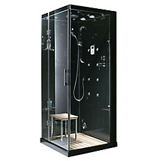 59-inch x 32-inch x 86-inch Orion Left-Hand Drain Steam & Shower Enclosure with Aromatherapy