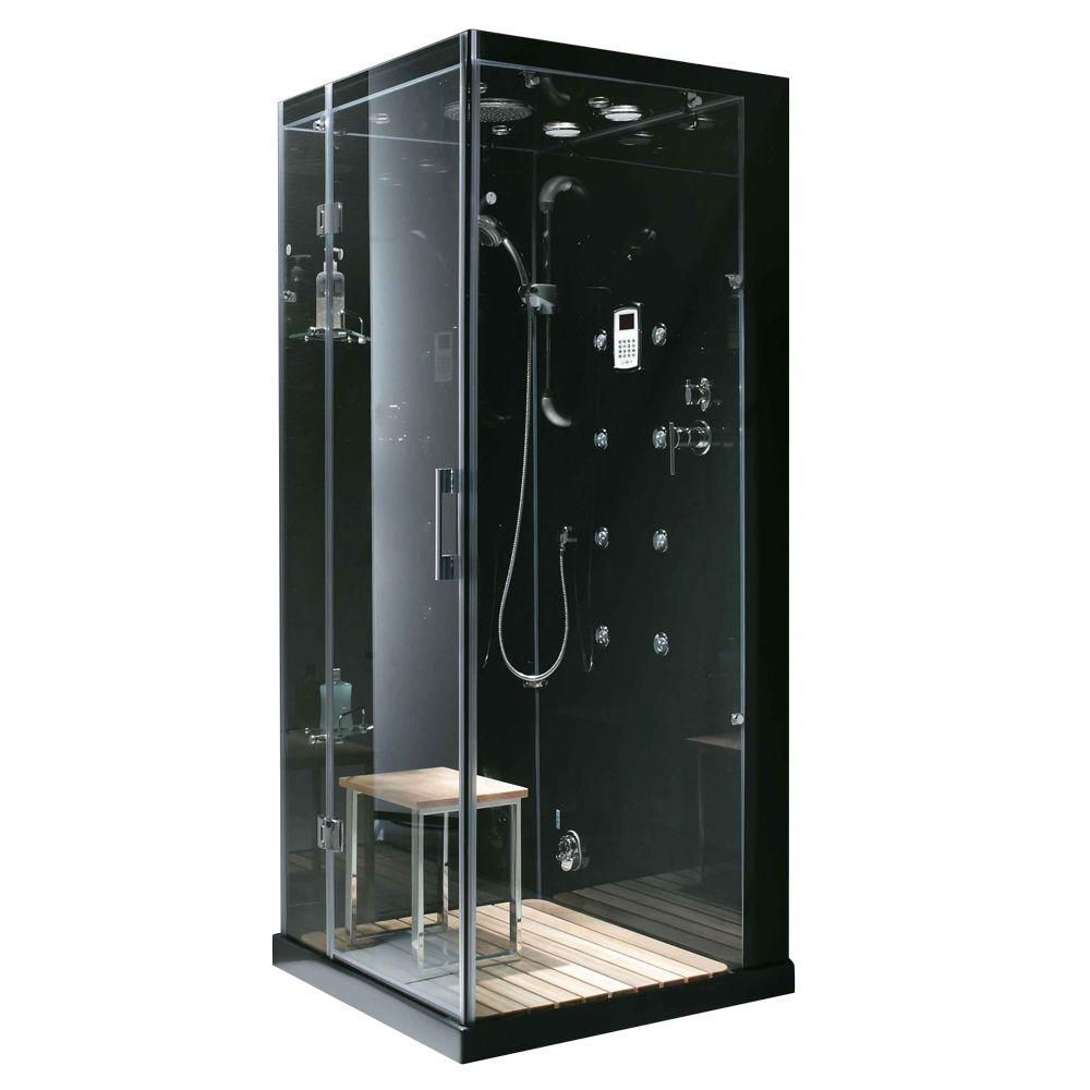 Steam Planet 59-inch x 32-inch x 86-inch Orion Left-Hand Drain Steam & Shower Enclosure with Aromatherapy