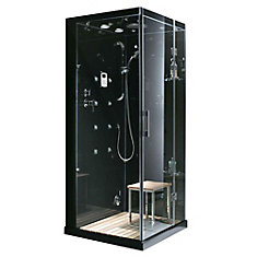 35.4-inch x 35.4-inch x 86-inch Right-Hand Drain Steam & Shower Enclosure with Radio