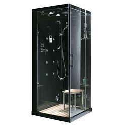 Steam Planet 35.4-inch x 35.4-inch x 86-inch Right-Hand Drain Steam & Shower Enclosure with Radio
