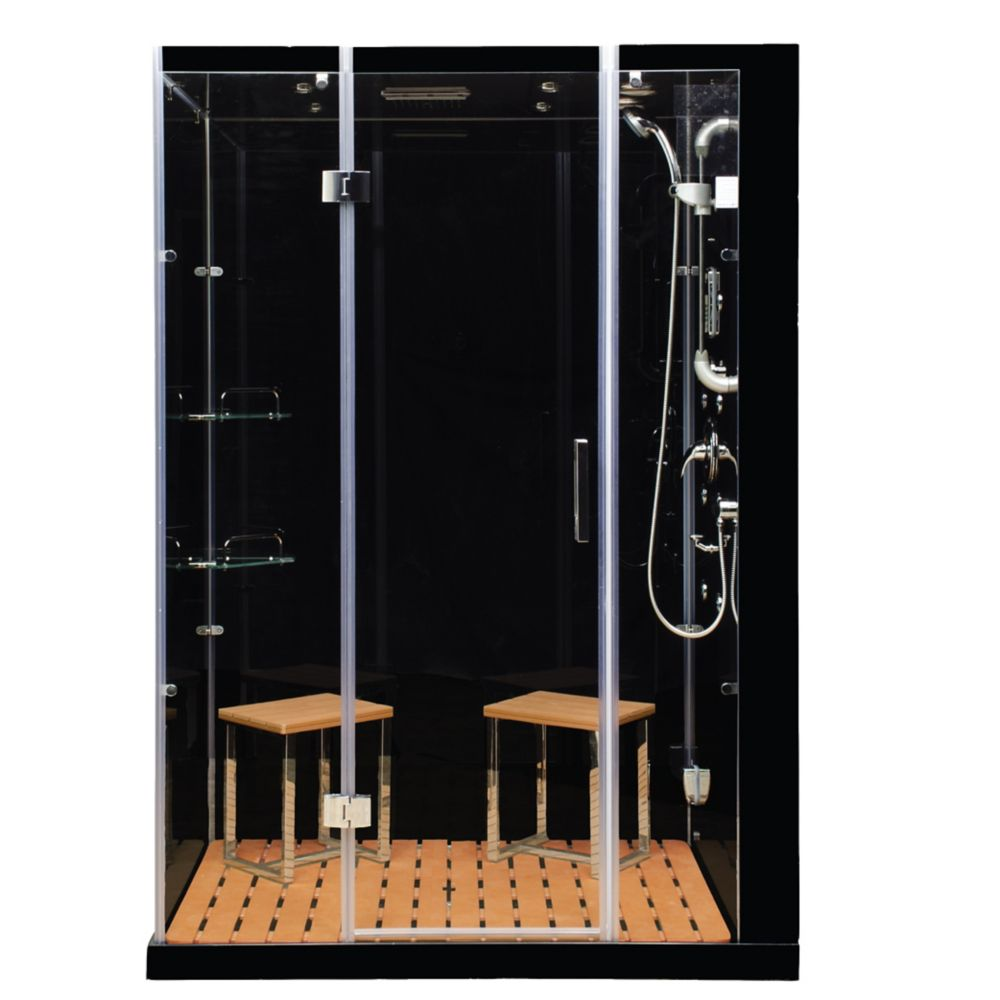 Steam Planet Modern, Stylish Steam & Shower Enclosure With Multi Body Massage Water Jets, Radio & Aromatherapy