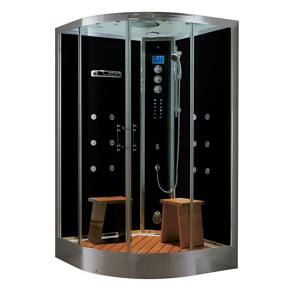 Luxury Steam & Shower Corner Enclosure With Multi Body Massage Water Jets, Radio & Aromatherapy