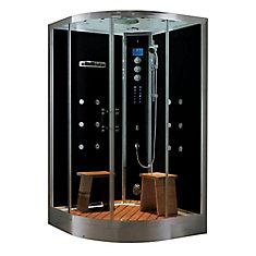 Luxury Steam & Shower Corner Enclosure With Multi Body Massage Water Jets, Radio & Aromatherapy