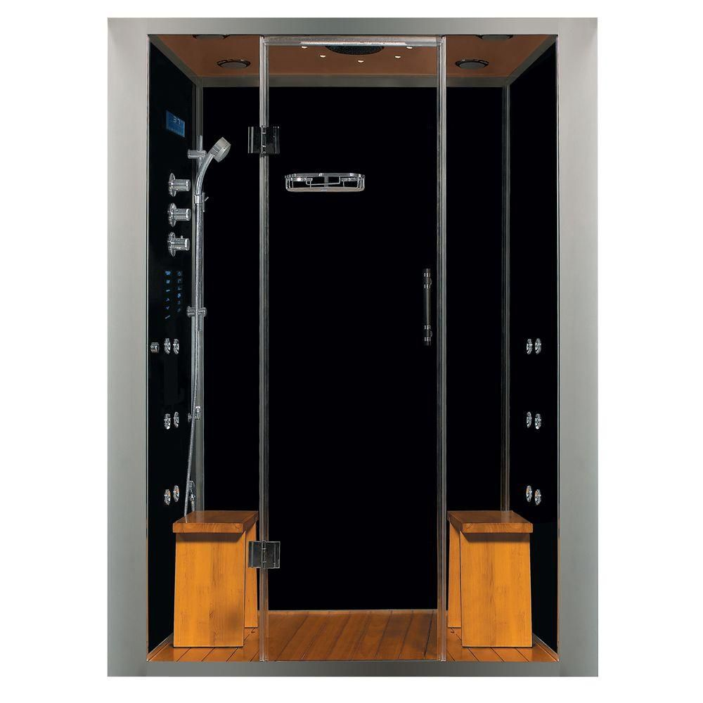 Luxury Steam & Shower Alcove Enclosure With Multi Body Massage Water Jets, Radio & Aromatherapy