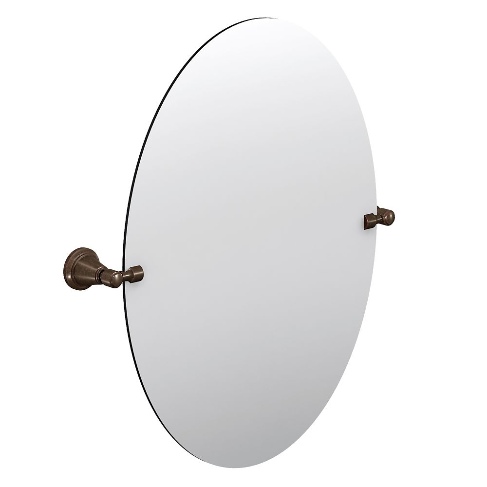 Oiled Bronze Bathroom Mirror: Moen Bradshaw Pivoting Mirror - Oil Rubbed Bronze