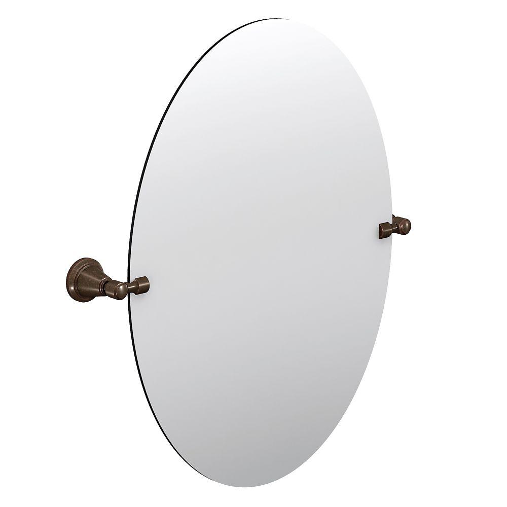 Bradshaw - Miroir pivotant avec quincaillerie décorative, Bronze huilé