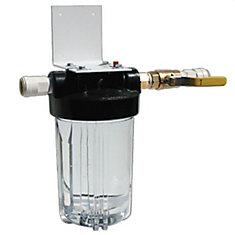 Système de filtration clair, plein débit pour la maisonavec support et Valve
