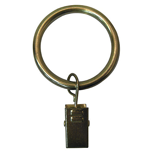 1-1/4-inch Clip Ring in Brushed Brass