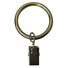 1 1/4-inch Curtain Rod Clip Ring in Brushed Brass