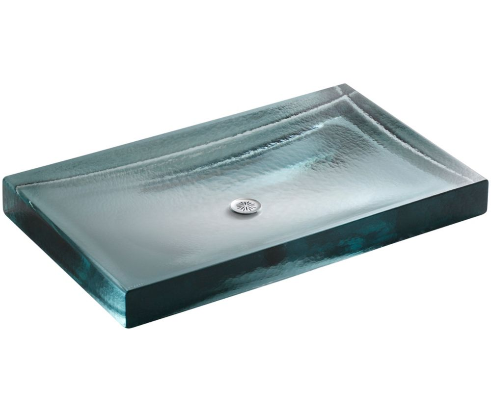 KOHLER Antilia(R) Wading Pool(R) glass bathroom sink
