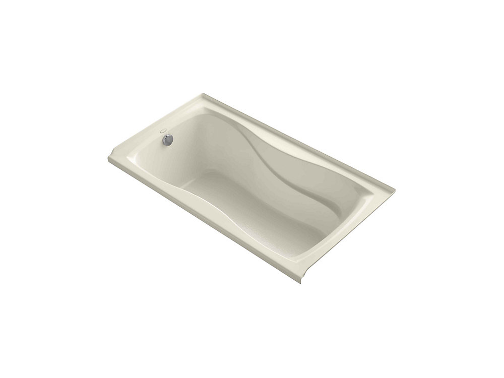 """Hourglass(R) 60"""" x 32"""" alcove bath with integral flange and left-hand drain"""