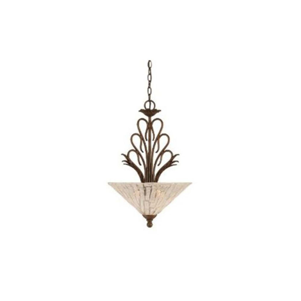 Concord 3 Light Ceiling Bronze Incandescent Pendant with a Clear Crystal Glass