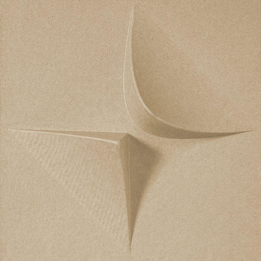 PaperForms V2 Wallpaper Tiles Tan Color (Paintable) 12 Tile Pack (1 x 1 Feet x 2 Inches Deep Glue-Up Wallpaper Tile)