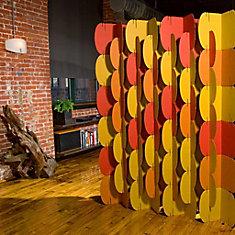 Nomad System Room Dividers Orange Pantone 1525U