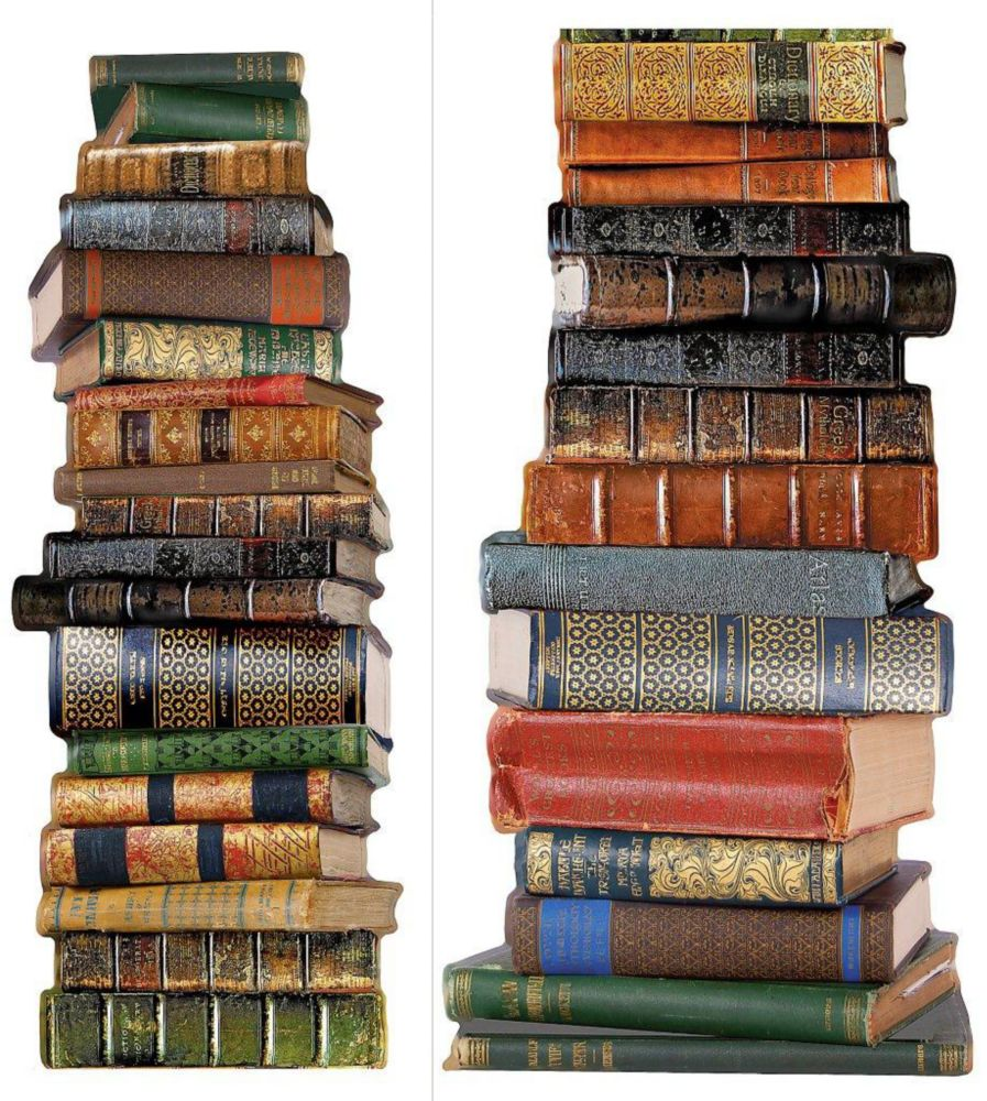 18 Inches x 5 Feet 8 Inches Book Stack Wall Applique
