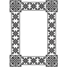 13-inch x 18-inch Dry Erase Memo Board with Elegant Black and White Patterned Border