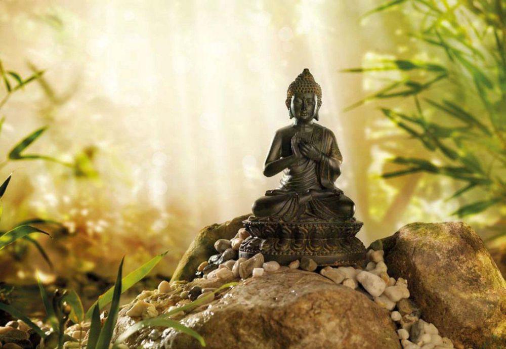 6 Feet x 4 Feet 2 Inches Buddha Wall Mural