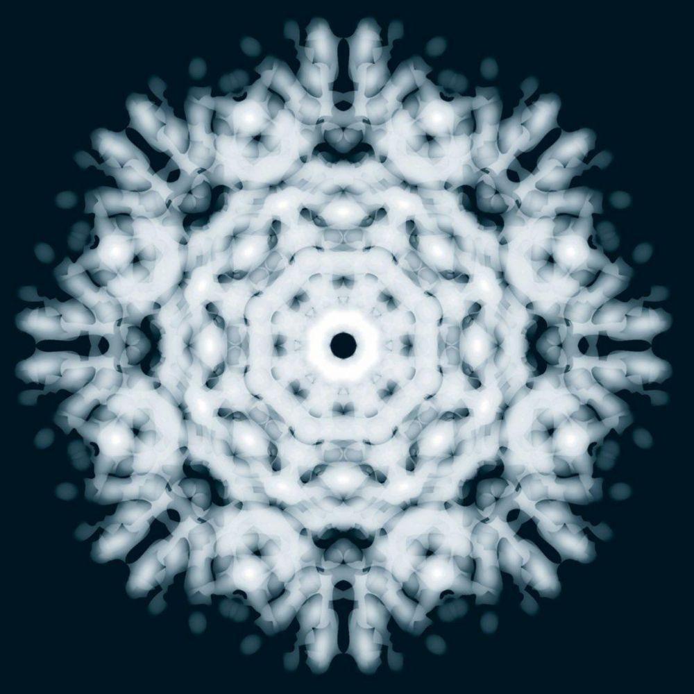 Murale flocon de lumière 6 pi.  x 8 pi.