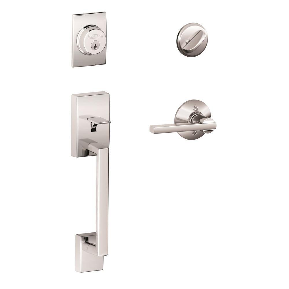 Schlage Century/Lattitude Bright Chrome Door Lever Handle Set