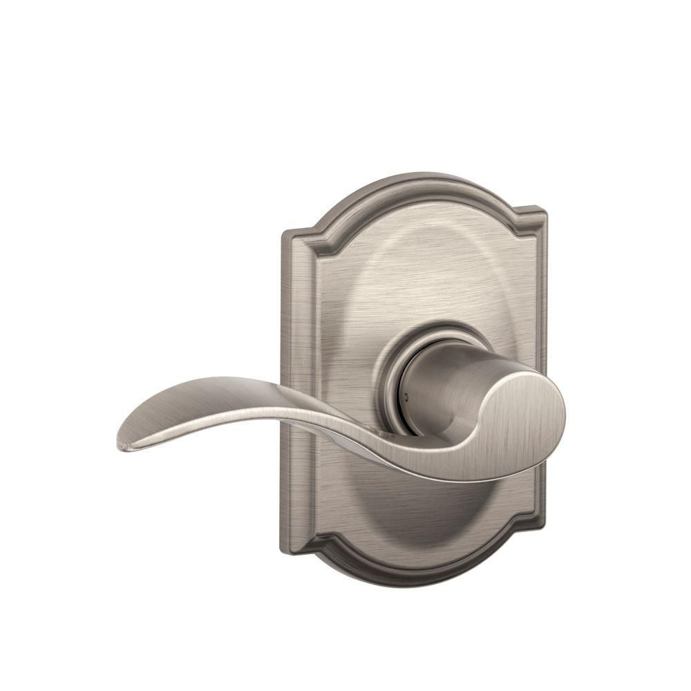 Camelot / Accent Satin Nickel Passage Lever