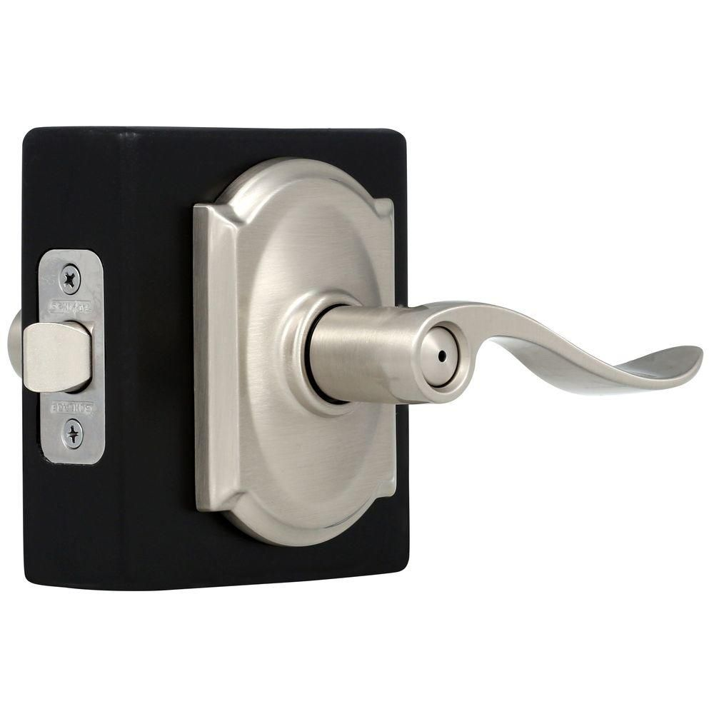 Camelot / Accent Satin Nickel Privacy Lever