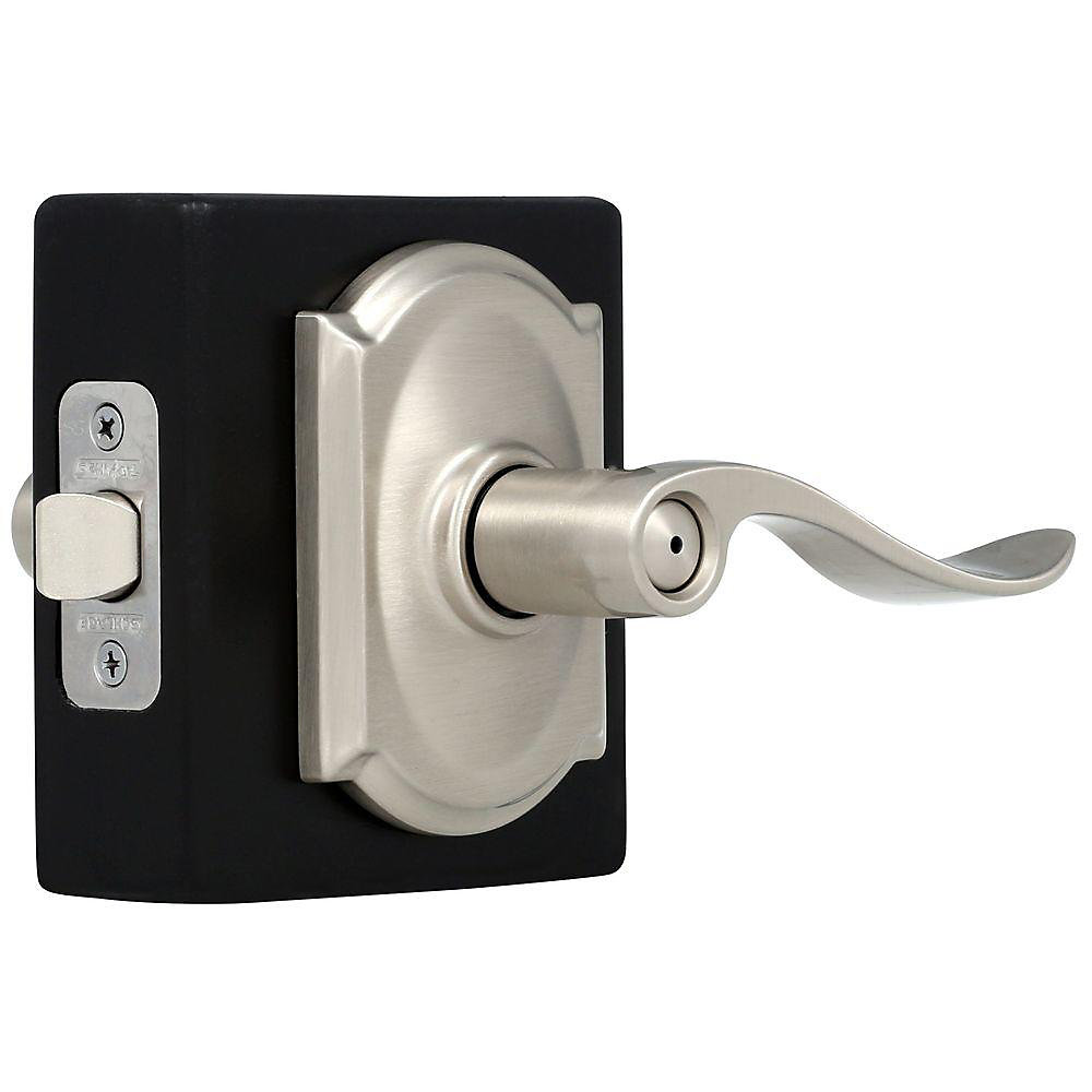 Privacy Lever Accent/Camelot Satin Nickel